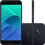 "Smartphone Asus Zenfone 4 Selfie Pro Dual Chip Android Tela 5.5"" Snapdragon 64GB 4G Wi-Fi Câmera Traseira 16MP Dual Frontal 12MP + 5MP - Preto"