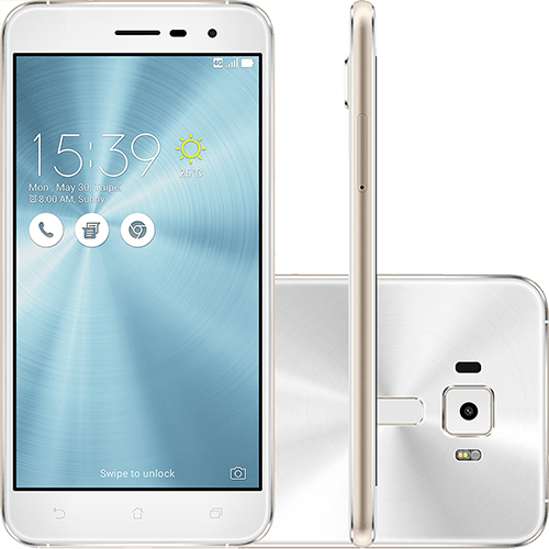 "Smartphone Asus Zenfone 3 Dual Chip Android 6 Tela 5.2"" 32GB 4G Câmera 16MP - Branco"