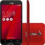 """Smartphone Asus Zenfone Go Dual Chip Android 5.1 Tela 5"""" Qualcomm Snapdragon 8GB 3G Wi-Fi Câmera 8MP - Vermelho"""