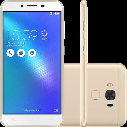 """Smartphone Asus Zenfone 3 Max Dual Chip Android 6.0 Tela 5.5"""" Qualcomm Snapdragon 32GB 4G Câmera 16MP - Dourado"""