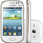 Smartphone Dual Chip Samsung Galaxy Fame Duos Desbloqueado Branco - Android 4.1 3G Wi-Fi Câmera de 5 MP Memória Interna 4 GB GPS