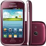 """Smartphone Samsung Galaxy Young Duos Dual Chip Desbloqueado Android 4.1 Tela 3.2"""" 4GB 3G Wi-Fi Câmera 3MP TV - Vermelho"""