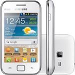 Smartphone Galaxy Ace Duos Branco S6802 - Dual Chip GSM - 3G, WiFi, Android, Câmera 5MP, Filmadora, Mp3 Player, Radio FM, GPS, Fone de Ouvido, Cabo USB