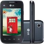 "Smartphone LG D157 TV L35 Dual Chip Desbloqueado Android 4.4 Tela 3.2"" 4GB 3G Wi-Fi Câmera 3MP TV Digital - Preto"