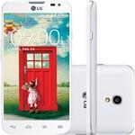 "Smartphone LG D340 L70 Tri Chip Android 4.4 KitKat Tela 4.5"" 4GB 3G Wi-Fi Câmera 8MP - Branco"