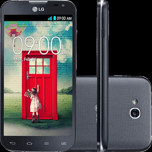 "Smartphone LG D410 L90 Dual Chip Desbloqueado Android 4.4 Kit Kat Tela 4.7"" 8GB 3G Wi-Fi Câmera 8MP - Preto"