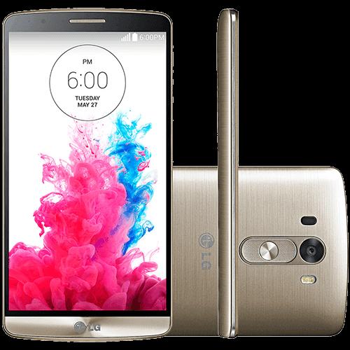 "Smartphone LG G3 Desbloqueado Android 4.4 Kit Kat Tela 5.5"" 16GB 4G Wi-Fi Câmera 13MP - Dourado"