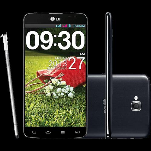 "Smartphone LG G Pro Lite Dual Chip Desbloqueado Android 4.1 Tela 5.5"" 8GB 3G Wi-Fi Câmera 8MP - Preto"