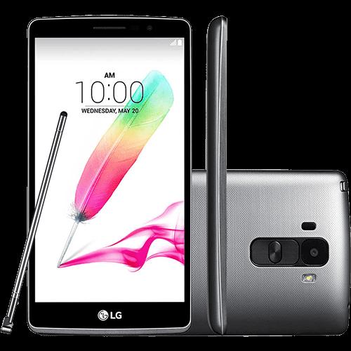 "Smartphone LG G4 Stylus Dual Chip Desbloqueado Android 5.0 5.7"" 16GB 4G 13MP TiTânio"