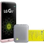 Smartphone LG G5 se 32GB - Rosa + Acessório Camera Modular para Celular Lg G5 Modelo Cbg-700