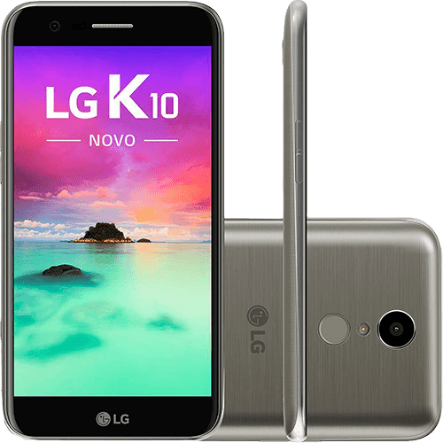 "Smartphone LG K10 Novo Dual Chip Android 7.0 Tela 5,3"" 32GB 4G 13MP - Titânio"