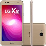 "Smartphone Lg K10 Power Dual Chip Android Tela 5,5"" Octacore Android 7.0 Nougat 32GB 4G Wi-Fi Câmera 13MP - Dourado"