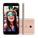 Smartphone LG K11 Alpha 16GB e Cartão de 16GB 8MP com Autofoco Rápido Dourado