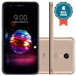 """Smartphone LG K11+ 32GB Tela 5.3"""" Câmera 13MP Dourado + Cartão SD 16GB"""