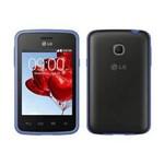 Smartphone Lg L30 D125f Preto Azul Dual Chip 3g Android 4.4 - Câm. 2mp Tela 3.2 Processador Dual C