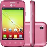 "Smartphone LG L40 D175 Dual Chip Desbloqueado Android 4.4 Tela 3.5"" 4GB 3G Wi-Fi Câmera 3MP - Rosa"
