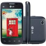 "Smartphone LG L40 D180 TV Tri Chip Desbloqueado Android 4.4 Tela 3.5"" 4GB 3G Wi-Fi Câmera 3MP TV Digital - Preto"