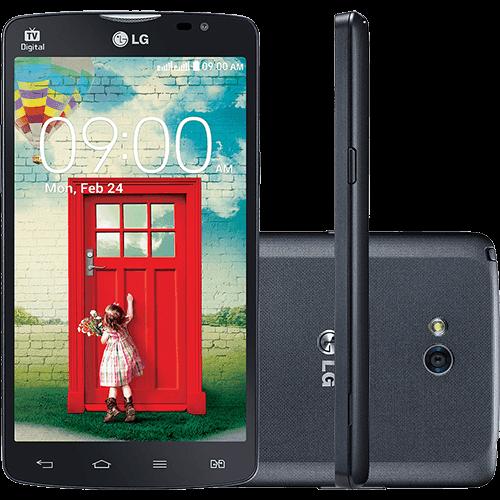 "Smartphone LG L80 Dual Chip Desbloqueado Tim Android 4.4 Tela 5"" 8GB 3G Wi-Fi Câmera 8MP TV Digital Preto"