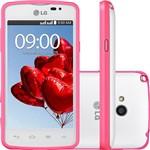 "Smartphone LG LG L50 Sporty Dual Chip Desbloqueado Android 4.4 Tela 4"" 4GB 3G Wi-fi Câmera 5MP TV Digital - Branco"