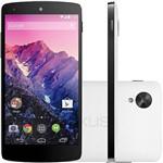 "Smartphone LG Nexus 5 Android 4.4 Tela 5"" 16GB 4G Wi-Fi Câmera 8MP - Branco"
