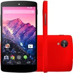 "Smartphone LG Nexus 5 Android 4.4 Tela 5"" 16GB 4G Wi-Fi Câmera 8MP - Vermelho"