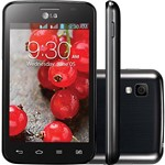 "Smartphone LG OpTimus L4 II Dual TV Desbloquado Tim Preto Android 4.1 Tela 3.8"" 4GB 3G Wi-Fi Câmera de 3MP - Preto"