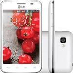 "Smartphone LG OpTimus L4 II Dual TV Desbloqueado Tim Android 4.1 Tela 3.8"" 4GB 3G Wi-Fi Câmera 3MP - Branco"