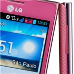 """Smartphone LG Optimus L5 Dual Desbloqueado Rosa. Dual Chip. Android 4.0. Tela 4"""". Câmera 5.0MP. 3G. Wi Fi. Memória Interna 4GB"""