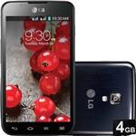 "Smartphone LG OpTimus L7 II Desbloqueado Tim Android 4.1 Tela 4.3"" 4GB 3G Wi-Fi Câmera 8MP - Preto"