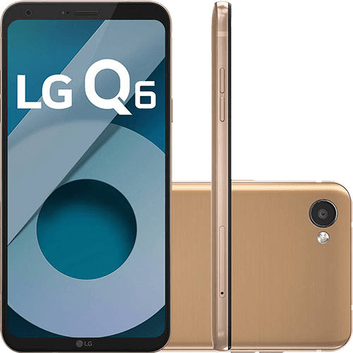 "Smartphone LG Q6 Dual Chip Android 7.0 Tela 5.5"" Full Hd+ Octacore 32GB 4G Câmera 13MP - Rose Gold"