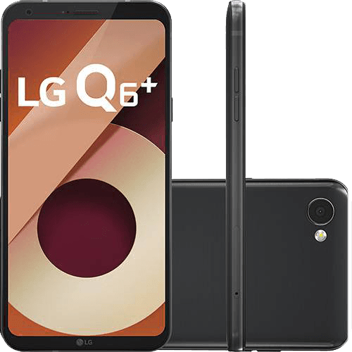 "Smartphone LG Q6 Plus Dual Chip Android 7.0 Tela 5.5"" Full Hd+ Snapdragon MSM8940 64GB 4G Câmera 13MP - Preto"
