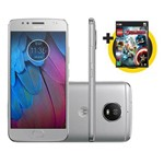 """Smartphone Moto G 5S Tela 5.2"""" 32GB Câmera 16MP Prata + Game LEGO Marvel Vingadores PC"""