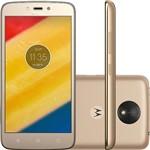"Smartphone Motorola Moto C Plus Dual Chip Android 7.0 Tela 5"" Quad-Core 16GB 4G Wi-Fi Câmera 8MP - Ouro"