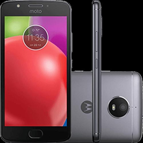 "Smartphone Motorola Moto E4 Dual Chip Android 7.1.1 Nougat Tela 5"" Quad-Core 1.3GHz 16GB 4G Câmera 8MP - Titanium"