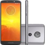 "Smartphone Motorola Moto E5 32GB Tela 5.7"" Câmera 13MP Platium + Chip Tim"