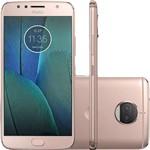 "Smartphone Motorola Moto G 5s Plus Nougat Tela 5.5"" 32GB 4G 13MP Ouro Rosa - Tim"