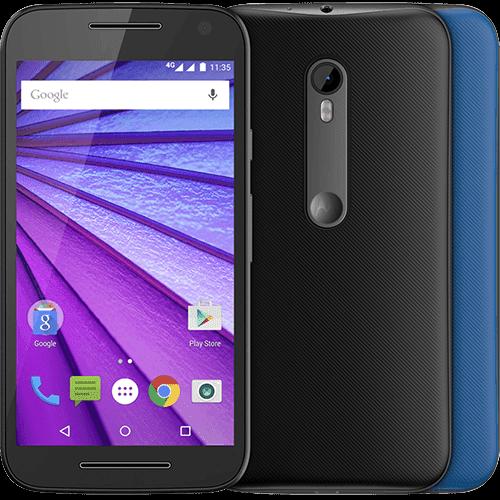 """Smartphone Motorola Moto G (3ª Geração) Colors Dual Chip Android 5.1 Tela 5"""" 16GB 4G Câmera 13MP - Preto + 1 Capa Azul"""