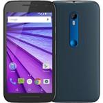 """Smartphone Motorola Moto G 3ª Geração Edição Especial Azul Navy Dual Chip Desbloqueado Android 5.1 Tela HD 5"""" Memória Interna 16GB 4G Câmera 13MP Processador Quad Core 1.4GHz - Preto"""