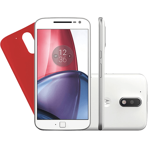 Smartphone Motorola Moto G4 Plus Dual Chip Android 6.0 Tela 5.5'' 32GB Câmera 16MP - Branco