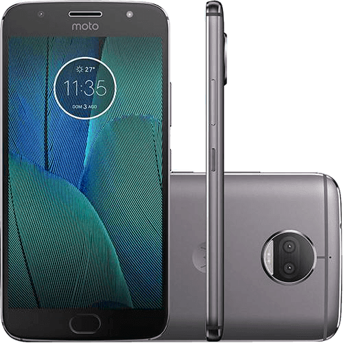 "Smartphone Motorola Moto G5S Plus Dual Chip Android 7.1.1 Nougat Tela 5.5"" Snapdragon 625 32GB 4G 13MP Câmera Dupla - Platinum"
