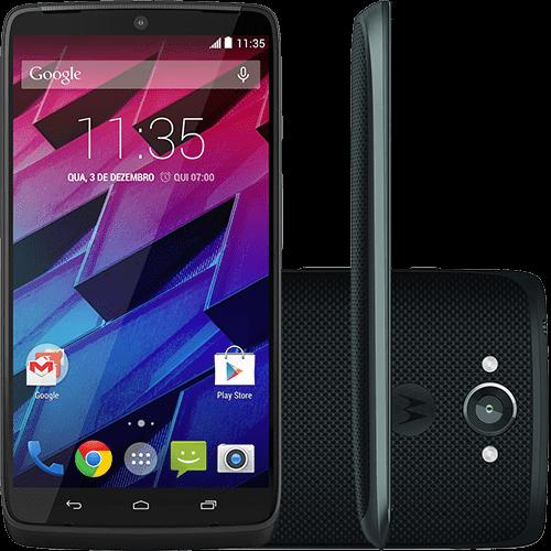 "Smartphone Motorola Moto Maxx Android 4.4 Tela 5.2"" 64GB Câmera 21MP - Preto"