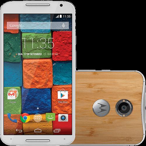 """Smartphone Motorola Moto X 2ª Geração Desbloqueado Android 5.0 Tela 5.2"""" 32GB 4G Wi-Fi Câmera 13MP GPS - Branco Bambu"""