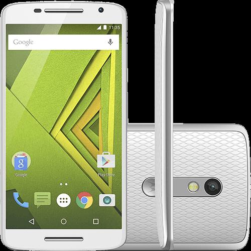 "Smartphone Motorola Moto X Play Colors Dual Chip Android 5.1 Tela 5.5"" 32GB 4G Câmera 21MP - Branco + Capa Pink"