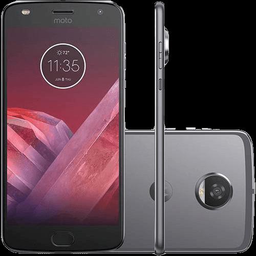 "Smartphone Motorola Moto Z2 Play New Sound Edition Dual Chip Tela 5.5"" Android 7.1 Nougat Octa-Core 2.2 GHz (Snapdragon 626) 64GB 4G Wi-Fi Câmera 12MP - Platinum"