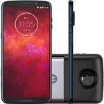 "Smartphone Motorola Moto Z3 Play - Power Pack & Dtv Edition Tela 6"" Câmera 12 + 5MP - Índigo"