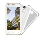 Smartphone Multilaser Ms45 S Colors Branco/dourado - 2 Chips, Tela 4.5 Ips, Android 5.1, Q.core, 1.