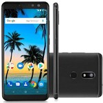 "Smartphone Multilaser MS80 4G 32GB Tela 5,7"" Android 7.1 Qualcomm Dual Camera 20MP+8M - Preto"