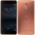 """Smartphone Nokia 6 3GB/32GB LTE Dual Sim Tela 5.5""""FHD Câm.16MP+8MP-Cobre"""