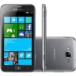"""Smartphone Samsung Ativ S I8750 Desbloqueado Windows Phone Tela 4.8"""" 16GB 3G Wi-Fi Câmera 8MP - Prata"""