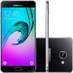 "Smartphone Samsung Galaxy A7 2016 Dual Chip Android 5.1 Tela 5.5"" 16GB 4G 13MP - Preto"